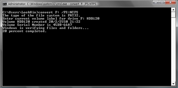 how to change file system from ntfs to fat32