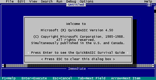 old-programming-ide-quickbasic-4.50